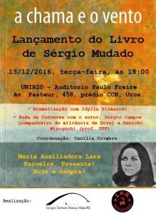 Lançamento do Livro de Sérgio Mudado, 13/12/2016, às 18:00.